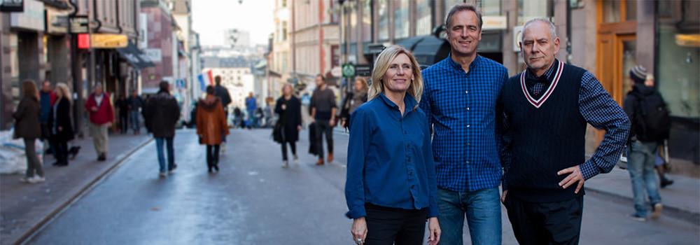 Bild av Byrån för fmailjerådgivning och psykoterapi. Från vänster Ingrid Wase, Rikard Lidén & Mats Wretås